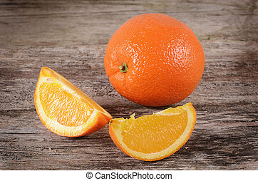 Fresh orange as a background