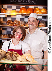 Friendly bakery staff