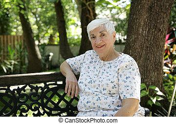 Friendly Senior in Park