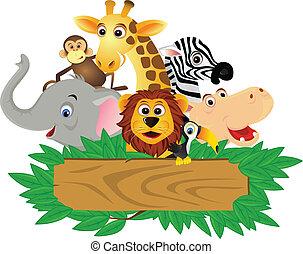 Funny cartoon animal