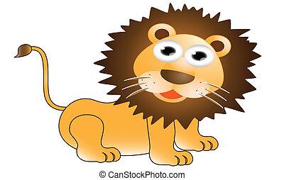 Funny lion cartoon