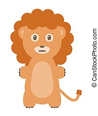 Funny lion character