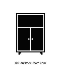 furniture icon wardrobe  interior icon