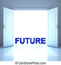 Future word conceptual in the future