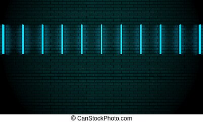 Futuristic Neon Lights on the Wall