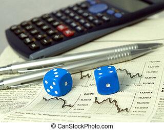 Gambling on the stock exchange concept