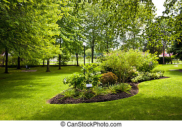 Garden in park