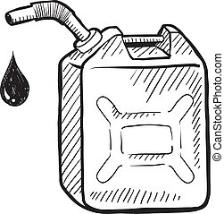 Gas can sketch