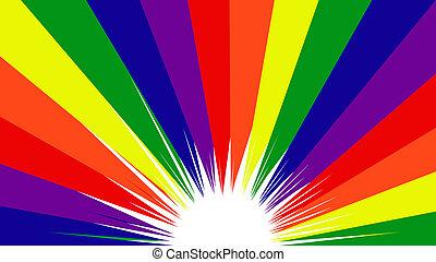 Gay Pride Rainbow Colors Background