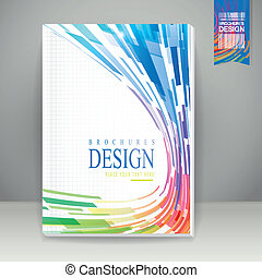 abstract geometric streamlined style background brochure template
