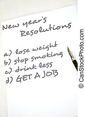 Get a job resolution