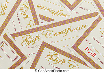 Gift Certificates Pile