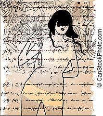 Girl, abstract