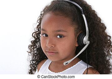 Girl Child Headset