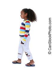 Girl Child Walking