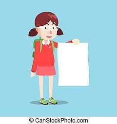 Girl standing paper