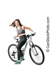 girl with a mountainbike