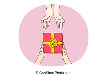 Giving presents, gift, surprise concept