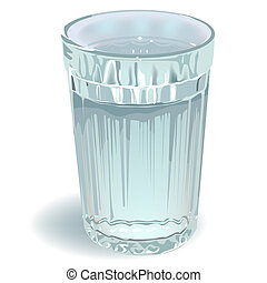 glass of water. Illustration in vector format
