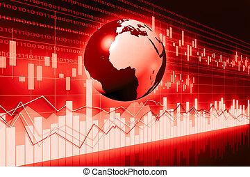Global business chart