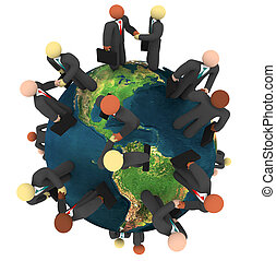 Global Business Deals - International Handshakes