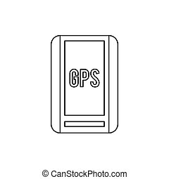 Global Positioning System icon, outline style
