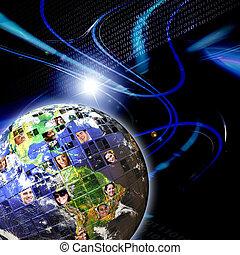 Global Worldwide Network of People