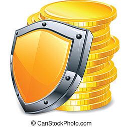 Gold coins & coat