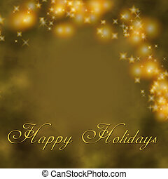 Golden holiday greeting.