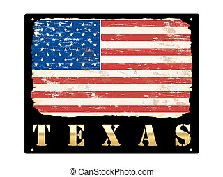 Gold Texas Enamel Sign