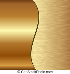 golden background divided into two - scratched and polished