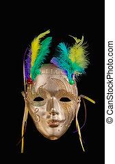 Golden Mardi Gras mask
