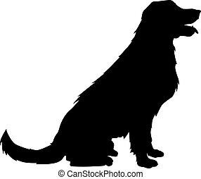 Golden retriever silhouette