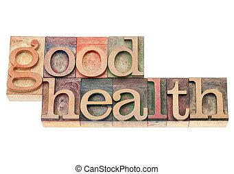 good health in wood type