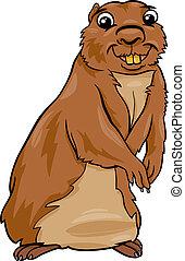 gopher animal cartoon illustration