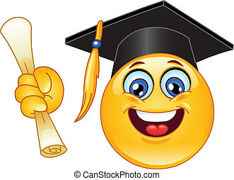 Graduation emoticon