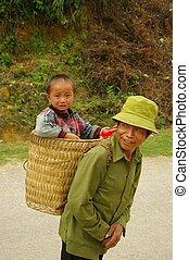 Grandpa and his little son