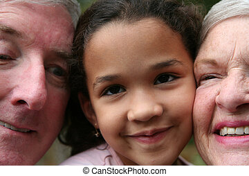 Grandparents with Grandaughter
