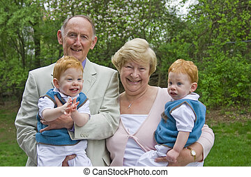Grandparents with grandsons