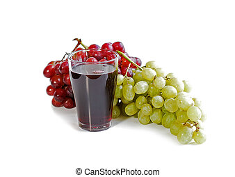 Grapes and juice