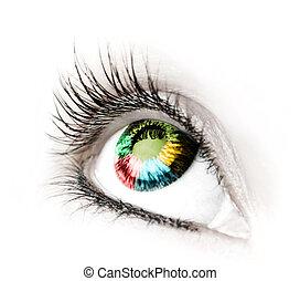 Great big eye. Macro.