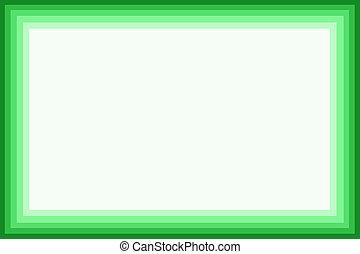 Shaded green border
