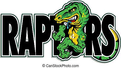 green dinosaur raptor design