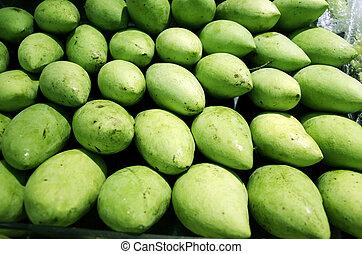 Green mango.