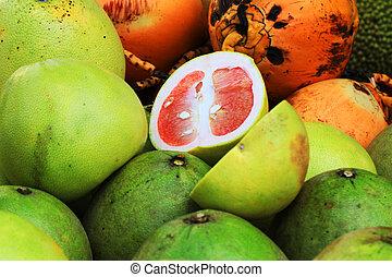 green red grapefruit texture