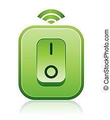 Green Wireless Remote Light Switch