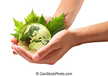 green world in the hands - europe -