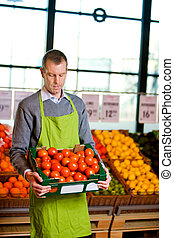 Grocer with Tomatoes
