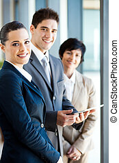businesspeople with tablet computer