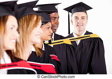 group of graduates at graduation